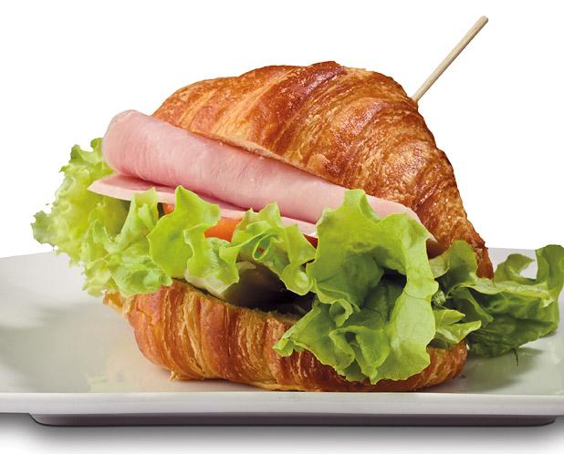 Croissant al prosciutto cotto
