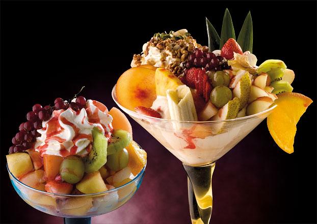 Coppe gelato realizzate da Fausto Martini - Eiscafè Cellino